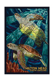 Hilton Head  South Carolina - Mosaic Sea Turtles