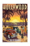 Hollywood  California - Woodies on the Beach