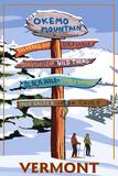 Okemo Mountain Resort  Vermont - Ski Sign Destinations