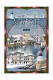 Newport  Rhode Island - Winter Montage Scenes
