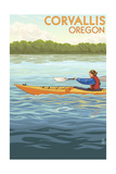 Corvallis  Oregon - Kayak Scene