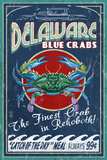 Rehoboth  Delaware - Blue Crabs Vintage Sign