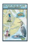 Hilton Head  South Carolina - Nautical Chart