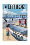 Ventnor  New Jersey - Lifeguard Stand