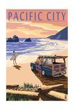 Pacific City  Oregon - Woody on Beach