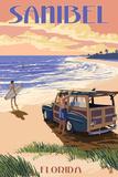 Sanibel  Florida - Woody on the Beach