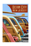 Ocean City  New Jersey - Woodies Lined Up