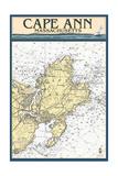Cape Ann  Massachusetts - Nautical Chart
