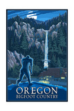 Oregon Bigfoot Country and Multnomah Falls