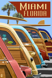 Miami  Florida - Woodies Lined Up