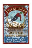 Breckenridge  Colorado - Ski Shop Vintage Sign