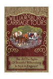 Williamsburg  Virginia - Carriage Tours Vintage Sign