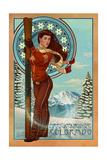 Breckenridge  Colorado - Art Nouveau Skier