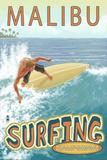 Malibu  California - Surfer Tropical