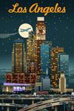 Los Angeles  California - Retro Skyline