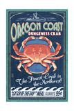 Oregon Coast - Dungeness Crab Vintage Sign
