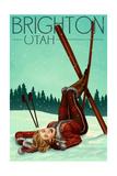 Brighton  Utah - Ski Pinup