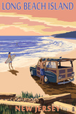 Long Beach Island  New Jersey - Woody on Beach