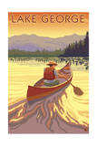 Lake George  California - Canoe Scene