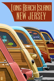 Long Beach Island  New Jersey - Woodies Lined Up