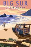 Big Sur  California - Woody on Beach