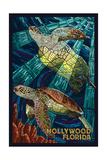 Hollywood  Florida - Sea Turtle Mosaic