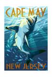 Cape May  New Jersey - Stylized Shark