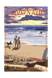 Coronado  California - Sunset Beach Walk