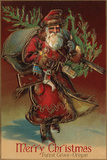 Merry Christmas from Forest Grove  Oregon - Santa with Gifts