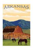 Arkansas - Horses and Barn