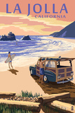 La Jolla  California - Woody on Beach