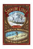 Ski Lodge - Vintage Sign