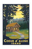 Coeur D'Alene  Idaho - Cabin in Woods