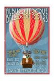 Albuquerque  New Mexico - Hot Air Balloon Tours - Vintage Sign