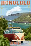 VW Van Coastal - Honolulu  Hawaii