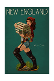 New England - Lobster Fishing Pinup