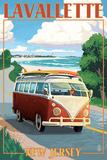 Lavallette  New Jersey - VW Van Drive