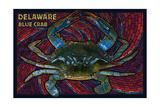 Bethany Beach  Delaware - Blue Crab Mosaic