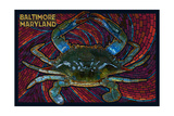 Baltimore  Maryland - Blue Crab Paper Mosaic