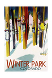 Winter Park  Colorado - Colorful Skis