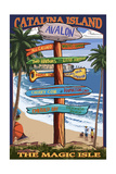 Catalina Island  California - Destination Sign 2