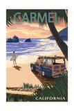 Carmel  California - Woody on the Beach