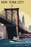 New York City  New York - Brooklyn Bridge