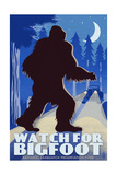 Watch for Bigfoot - WPA Style