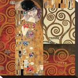 Deco Collage Detail (from The Kiss)