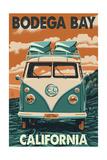 Bodega Bay  California - VW Van