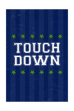 Monogram - Game Day - Blue and Green - Touchdown