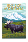 Big Sky  Montana - Moose and Mountain