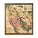 Texas  Oregon  and California - Vintage Map