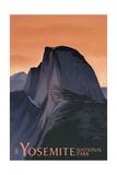 Half Dome - Yosemite National Park  California Lithography